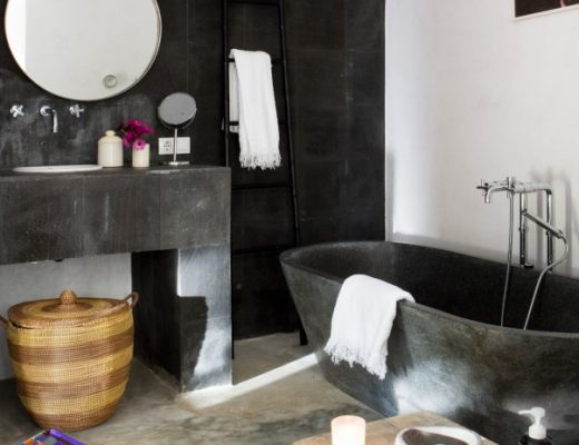 Betonvloer en bad
