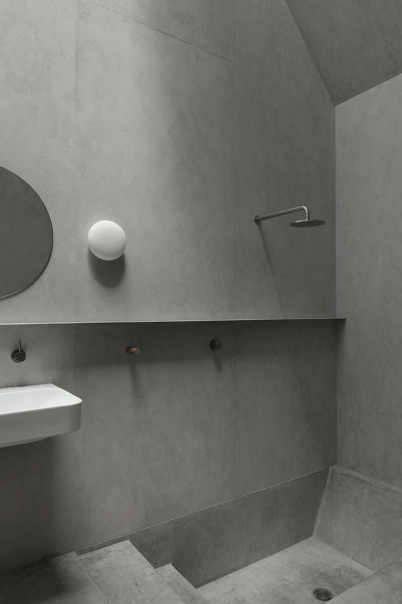 betonnen badkamer point lonsdale house