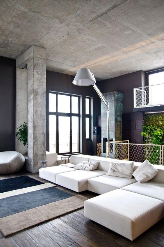 Betonnen plafond: inspiratie & ideeën