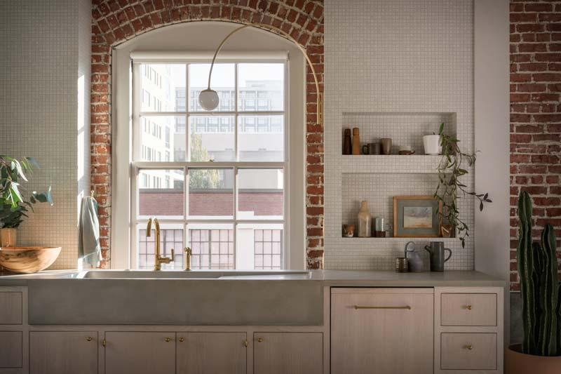 betonnen wastafel keuken
