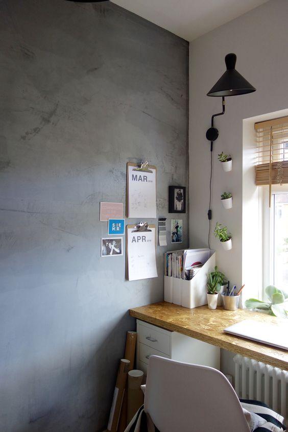 betonstuc-muur-werkplek