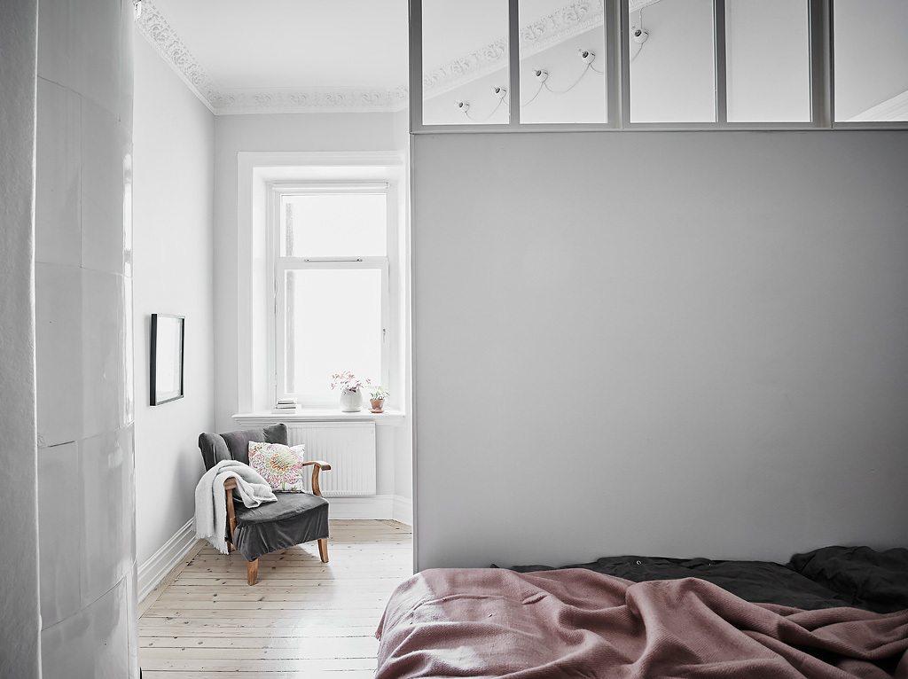 Binnen deze slaapkamer is een slaapkamer gecreëerd