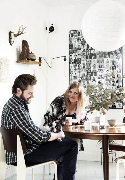 Binnenkijken in het tweekamerappartement van Line en Henrik