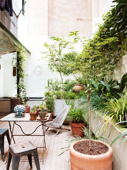 Binnenplaats tuin in Barcelona