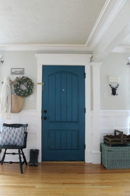 Blauwe deur