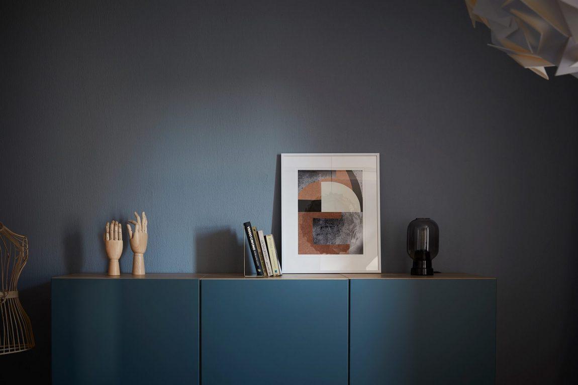 Blauwe slaapkamer inloopkast combinatie met IKEA Stolmen   Inrichting huis com