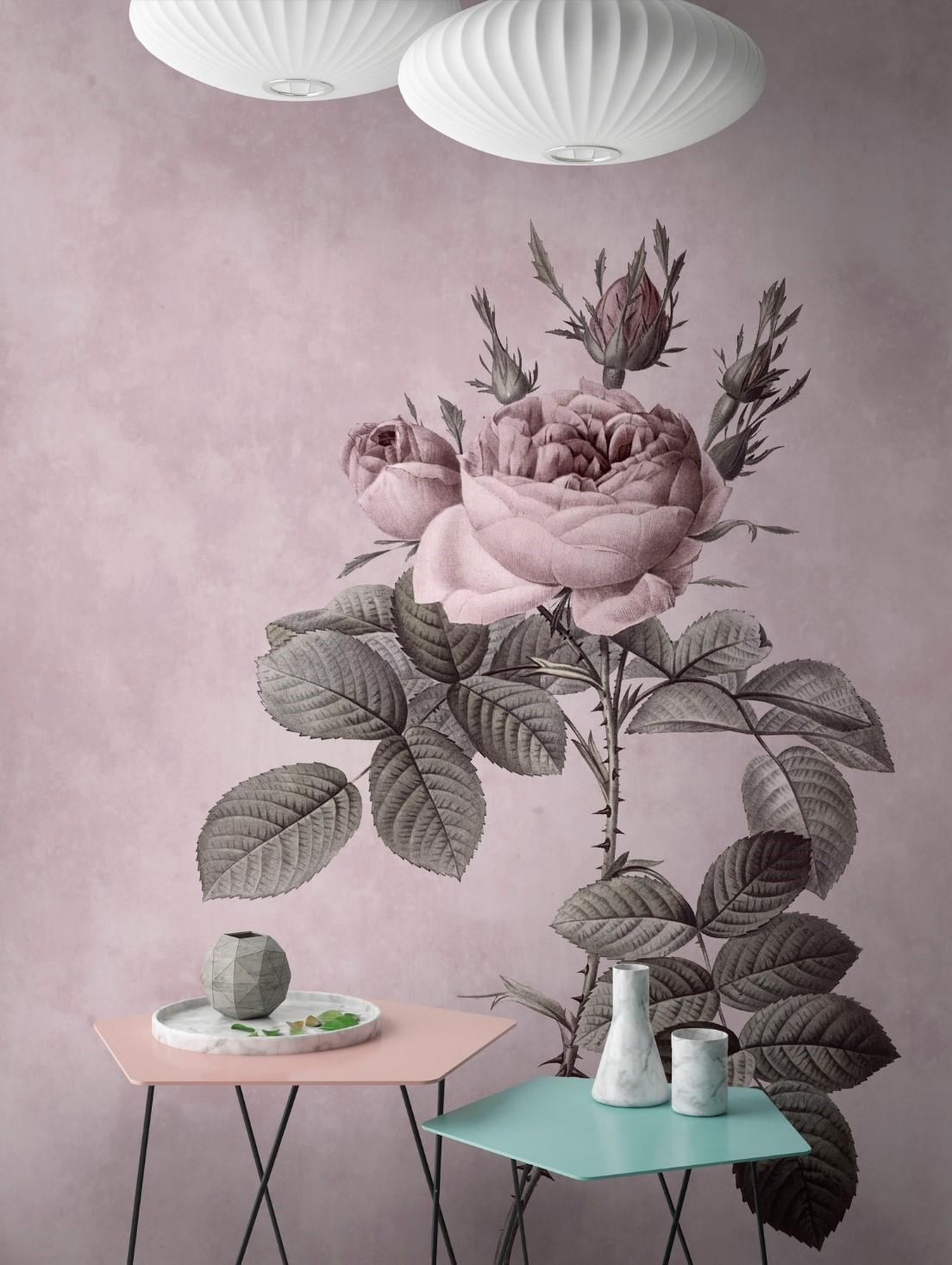 bloemen behang grote bloem