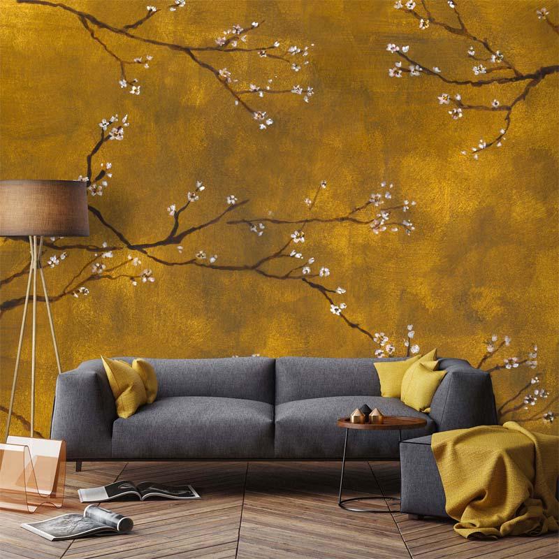 bloemen behang karwei chinese bloesem