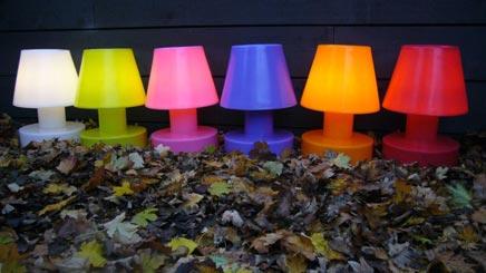 Lamp zonder stroomdraad u flikkerende lampen in huis