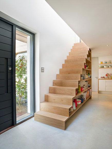 Boekenkast trap inrichting - Handige trap ...