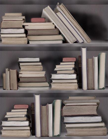 Boekenkast fotobehang | Inrichting-huis.com