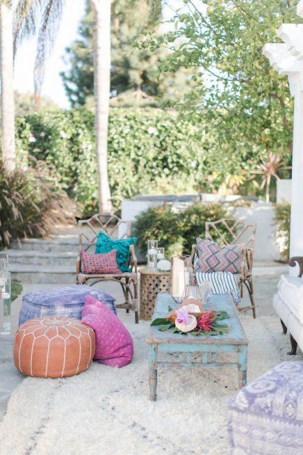 Bohemian bruiloft in de tuin inrichting for Huis in de tuin