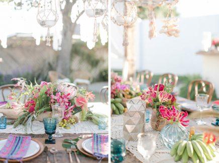 Bohemian bruiloft in de tuin