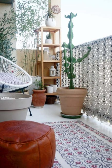 Bohemien-chic balkon make-over van Juliana