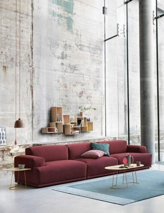 bordeaux rode bank muuto