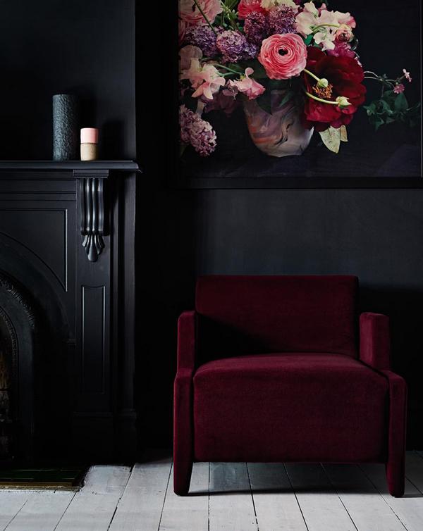 bordeaux rood fauteuil