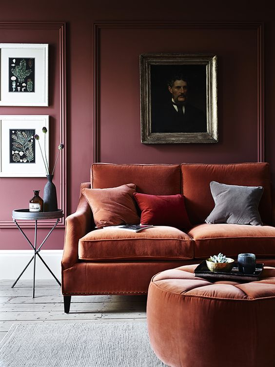 Bordeaux rood interieur