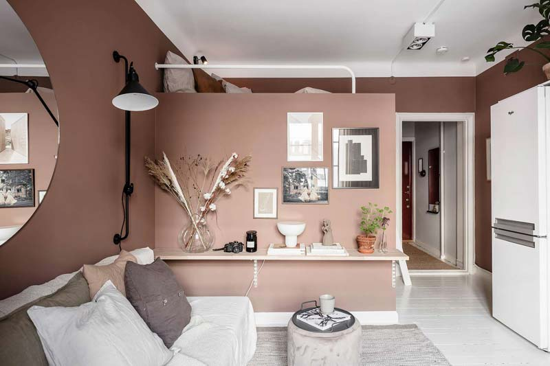 brede plank muur decoratie