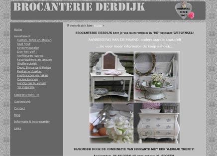 Brocante webwinkel Brocanterie Derdijk