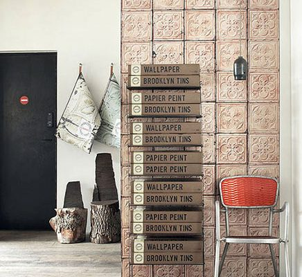 Brooklyn tin tiles behang van Merci
