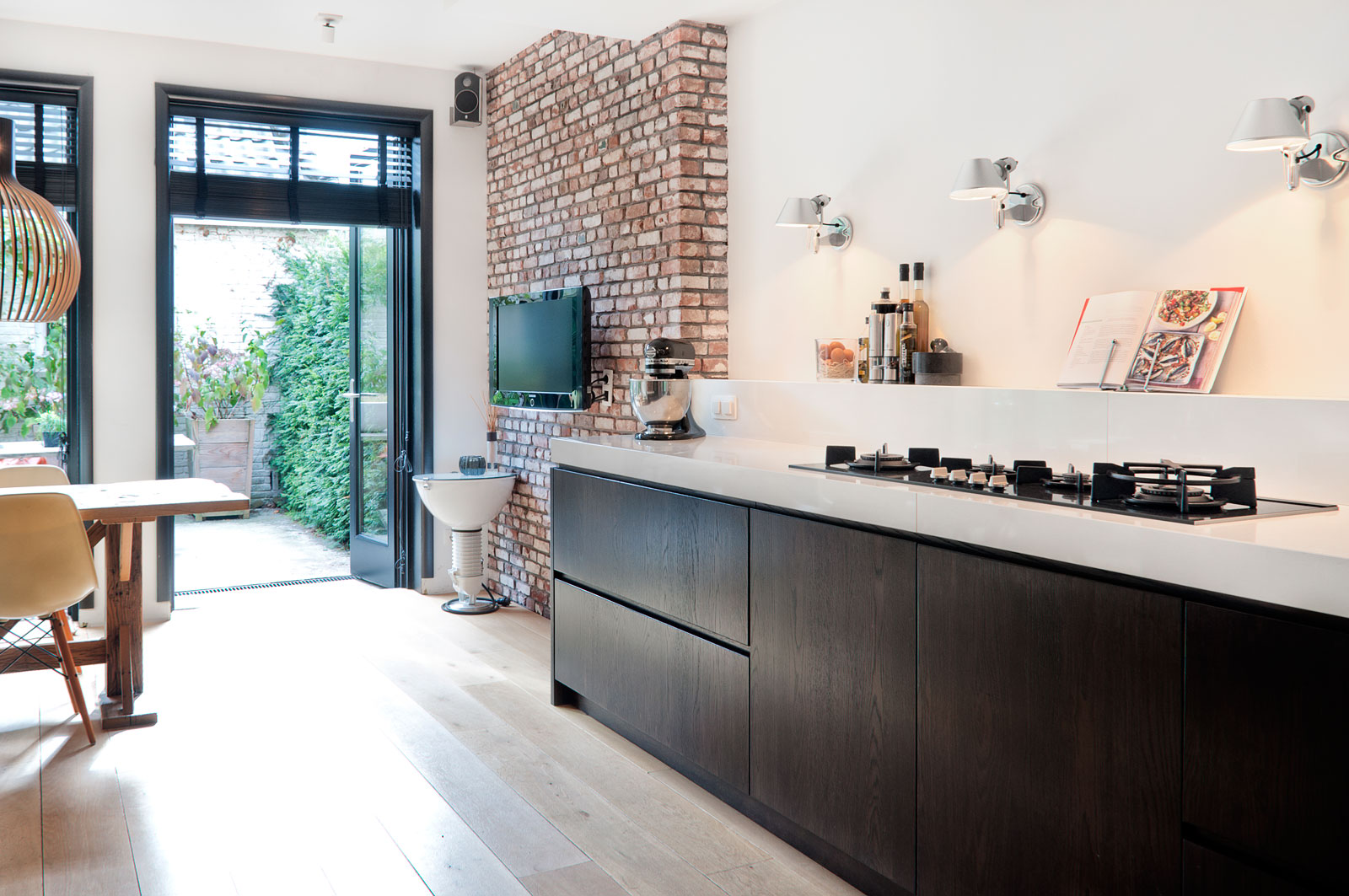 Huis Donker Hout : Donkere eiken houten droomkeuken inrichting huis