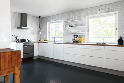 zwart bruine ikea keuken