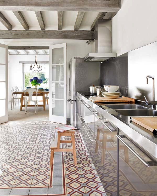 Cementtegels Keuken : Beautiful Kitchen Floor Tile