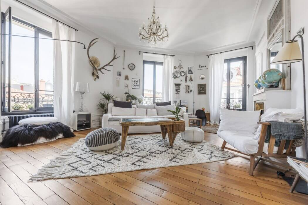 Charmant ingerichte driehoekige woonkamer | Inrichting-huis.com