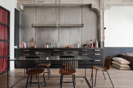 Chique industriële keuken inrichting huis