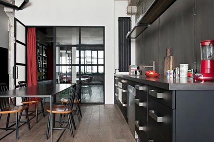 Chique industri le keuken inrichting - Keuken industriele loft ...