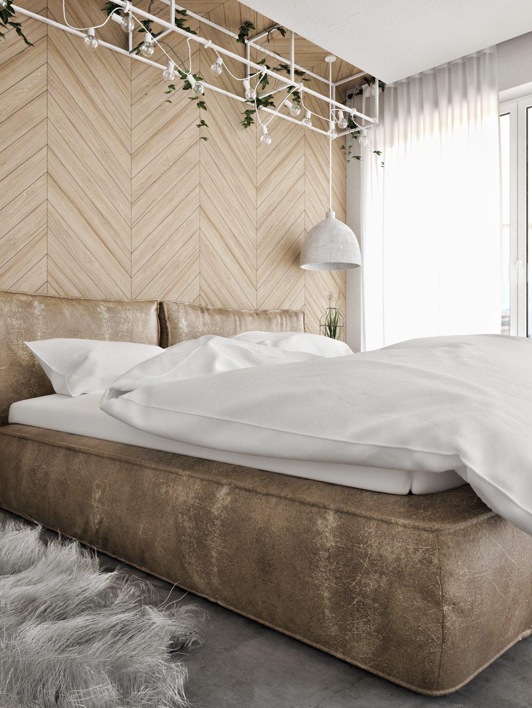cognac-bruine-leren-bed