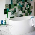 Creatieve collage in de badkamer