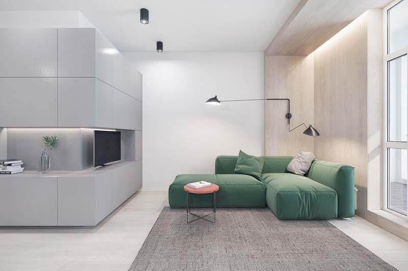 Comfortabele groene loungebank