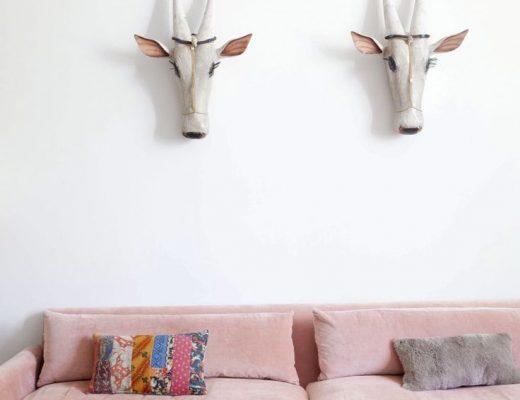Comfortabele roze bank