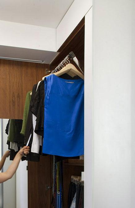 Compacte inloopkast van klein appartement in New York