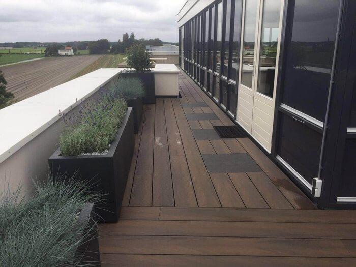 Composiet vlonders balkon