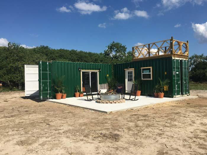 Containerwoning met dakterras