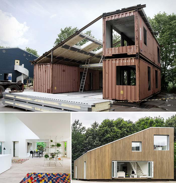 Containerwoning met schuin dak