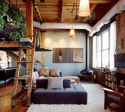 Cozy woonkamer met vide