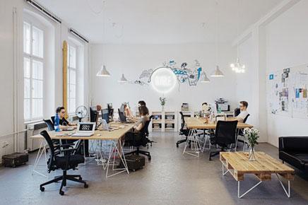 Creatief kantoor van Bubble