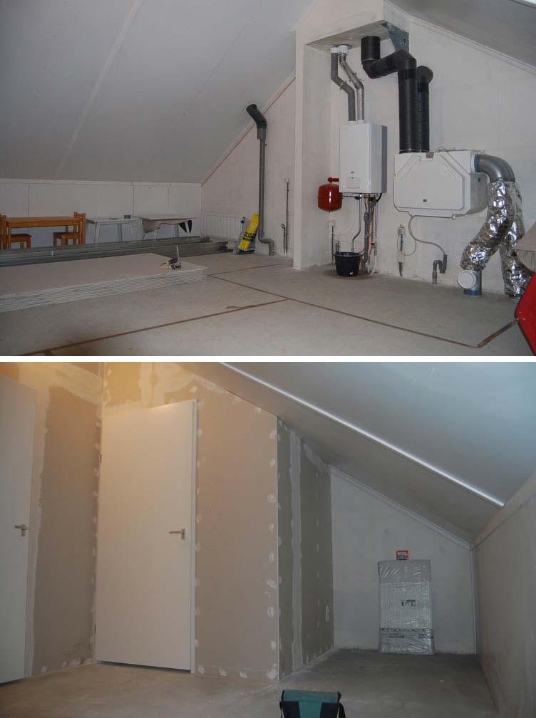 Klusbedrijf Klusinuitvoering heeft voor een klant zelfs een aparte cv ketel hok gemaakt op een zolder waar twee slaapkamers zijn gecreëerd - Klusinuitvoering.nl