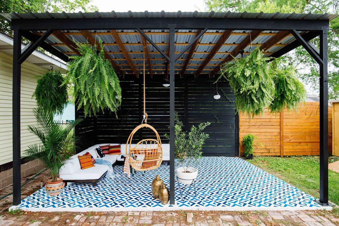 Dabito creëerde een inspirerend overdekt terras in de tuin