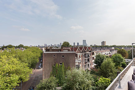 Dakterras bovenwoning in Rotterdam
