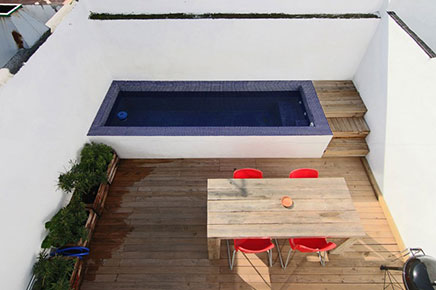 Dakterras met kleine zwembad