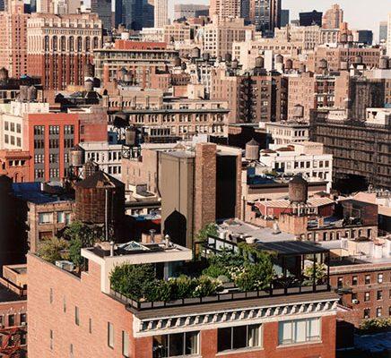 Dakterras van penthouse loft in Manhattan