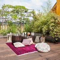 Dakterras tuin van een appartement