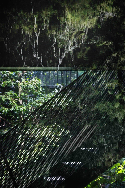 Dakterras met uitzicht op het atrium