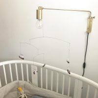 De gouden Janika wandlamp van pib