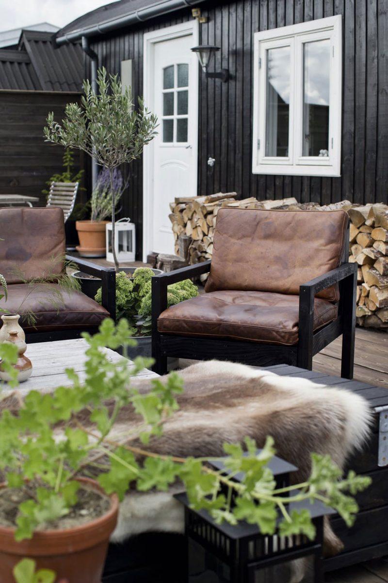De tuin van het zomerhuisje van Pernille!