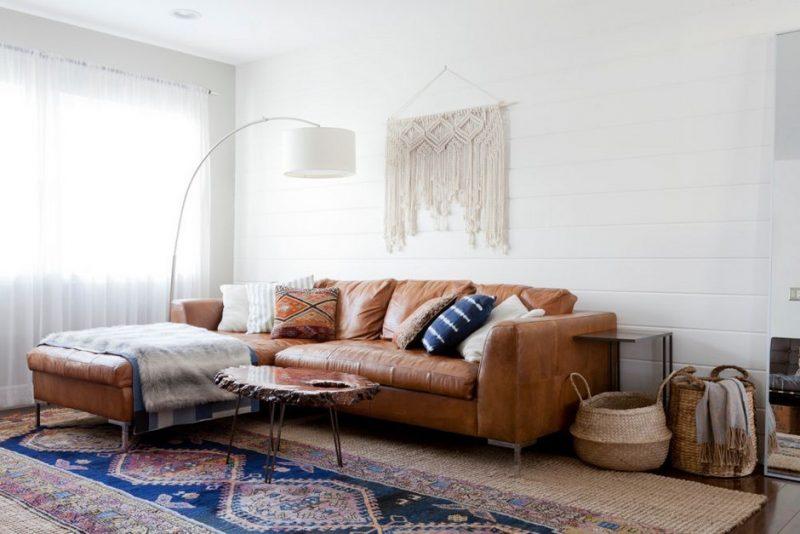 De vintage bohemian woonkamer van interieurontwerpster Natalie Myer